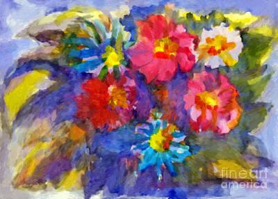 Painting - Vivid Flowers In The Garden by Irina Dobrotsvet