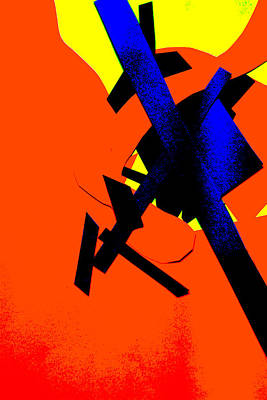 Digital Art - Vivid Orange Abstract Art 11 by Artist Dot