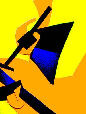 Digital Art - Vivid Yellow Abstract Art 37 by Artist Dot