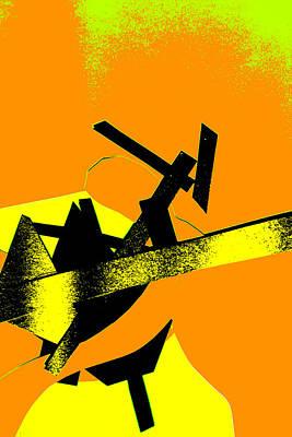 Digital Art - Vivid Yellow Abstract Art 9 by Artist Dot