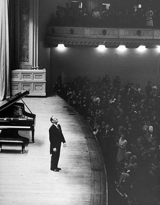 Human Interest Photograph - Vladimir Horowitz by Alfred Eisenstaedt