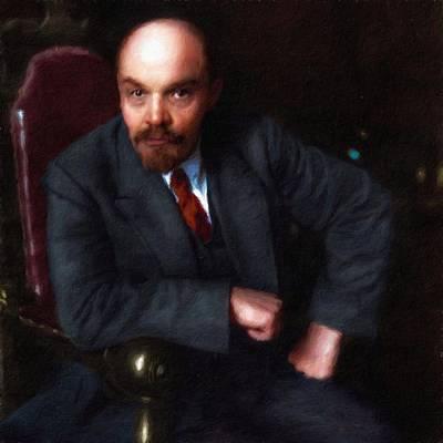 Painting - Vladimir Ilich Lenin, Portrait by Vincent Monozlay