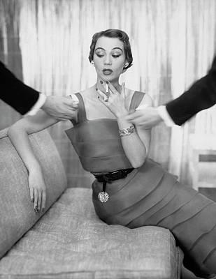 Photograph - Vogue 1950 by John Rawlings