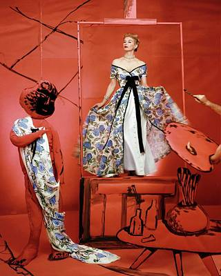 Fashion Photograph - Vogue 1953 by Horst P. Horst