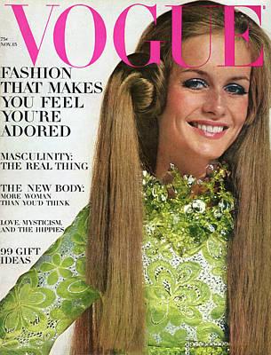 Drawing - Vogue Magazine November 15 1967 by Bert Stern