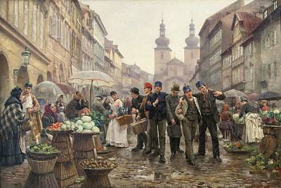 Painting - Vojtech Bartonek  Conscripts  1888  by Celestial Images