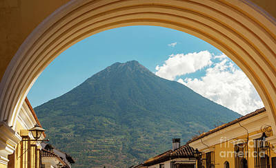 Landmarks Royalty Free Images - Volcan De Agua Antigua Guatemala Royalty-Free Image by Tim Hester