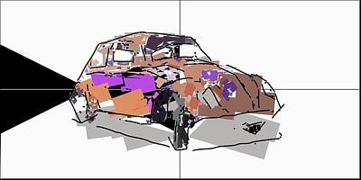 Mixed Media Royalty Free Images - Volkswagen Beetle Royalty-Free Image by David Ridley