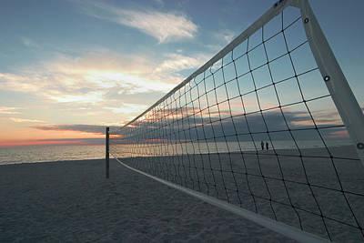 Photograph - Volleyball Net Venice Beach, Venice by Myloupe/uig
