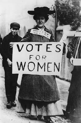 House Photograph - Votes For Women by Hulton Archive