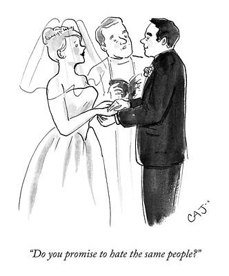 Drawing - Vows by Carolita Johnson