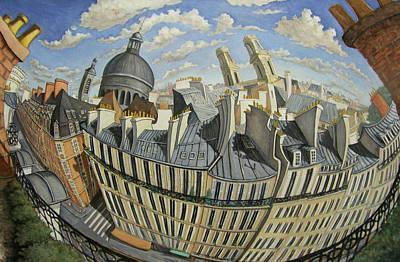 Painting - Vu Du 6me- Paris by Linda Mccluskey