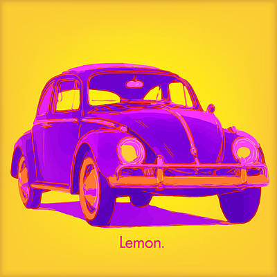 Digital Art - Vw Lemon by Gary Grayson