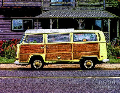 Photograph - Vw Woody Bus by Nick Zelinsky