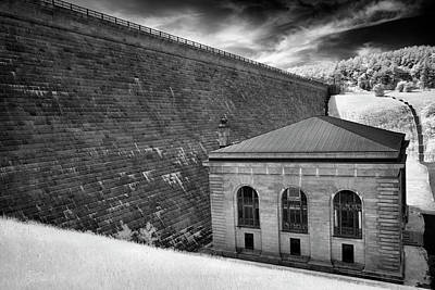 Photograph - Wachusett Dam Geometric Lines by Luke Moore