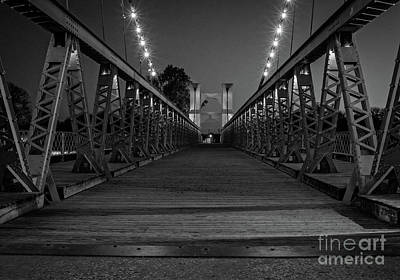 Photograph - Waco Suspension Bridge  by Imagery by Charly