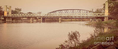 Photograph - Waco Suspension Bridge Panoramic by Imagery by Charly