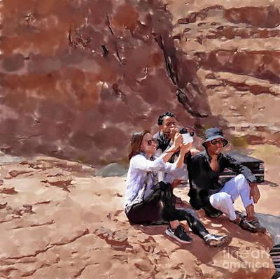 Mannequin Dresses - Wadi Rum, Jordan, Young tourists by Frank Heinz