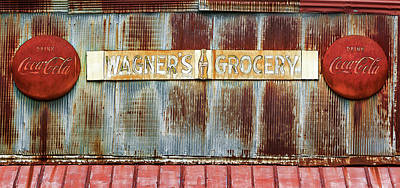 Photograph - Wagner's Grocery Store Sign by Susan Rissi Tregoning