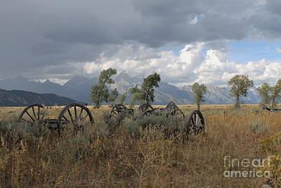 Wall Art - Photograph - Wagon Wheels  by Don Small Jr
