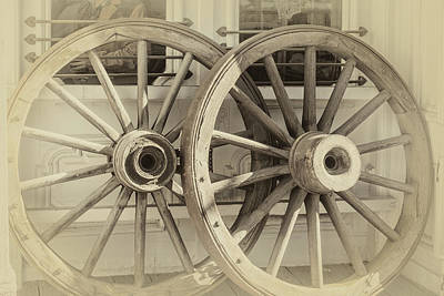Photograph - Wagon Wheels by James Eddy