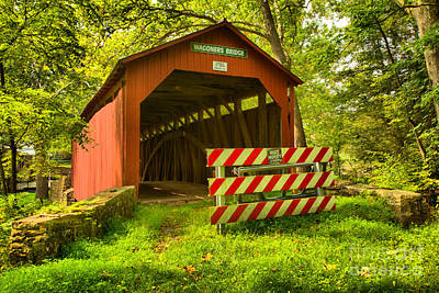 Photograph - Wagoner Covered Bridge by Adam Jewell