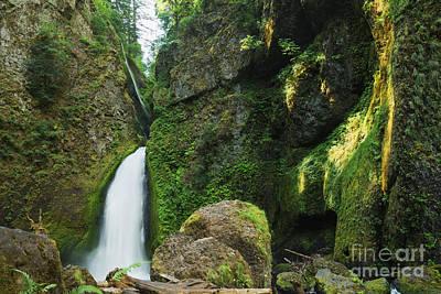 Photograph - Wahclella Falls Landscape by Charmian Vistaunet