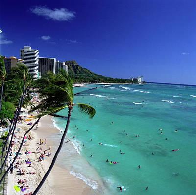 Photograph - Waikiki Beach In A Beautiful Clear Day by Hpphoto