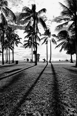 Photograph - Waikiki Palm Shadows by Sean Davey