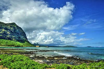 Photograph - Waimanalo Bay Clouds Oahu Hawaii Landscape Beach Art by Reid Callaway