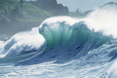 Photograph - Waimea Backwash by Sean Davey