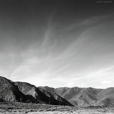 Wainui Hills Squared In Black And White Art Print
