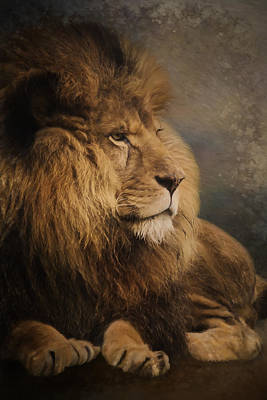 Painting - Wait For The Answer - Wildlife Art by Jordan Blackstone