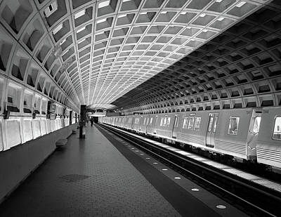 Photograph - Waiting At Pentagon City Station by Lora J Wilson