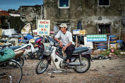 Photograph - Waiting At The Fish Market, Hoi An, Vietnam by Ian Robert Knight