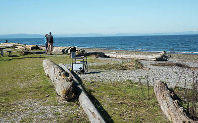 Photograph - Waiting Chair At Birch Bay Park by Tom Cochran