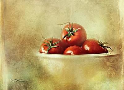 Still Life Royalty-Free and Rights-Managed Images - Waiting For The Basil and Mozzarella by CJ Anderson