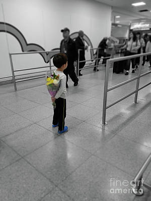 Photograph - Waiting For Mom At The Airport by Jeff Breiman