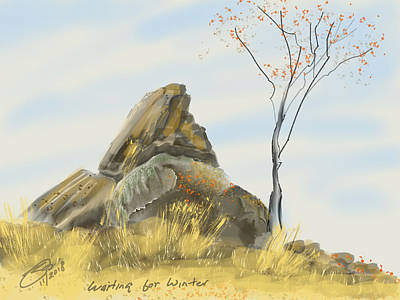 Digital Art - Waiting For Winter by Joel Deutsch