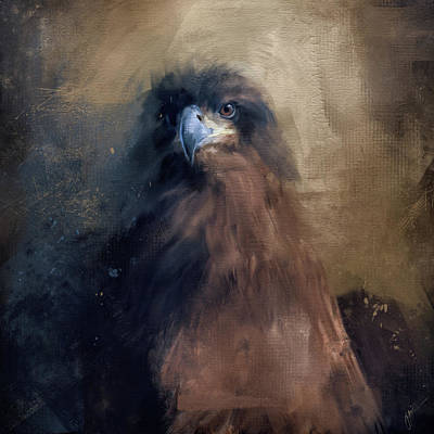 Painting - Waiting In The Dark - Eagle Art by Jai Johnson
