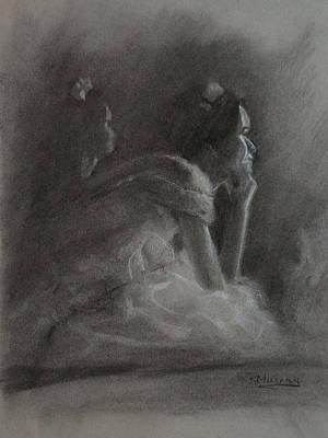 Impressionism Drawings - Waiting My Turn by Roberta Murray