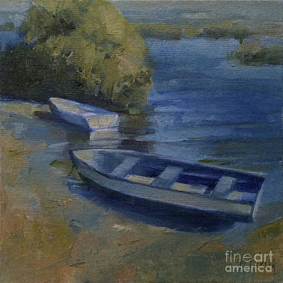 Painting - Waiting Rowboats by Mary Hubley