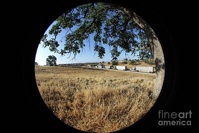 Photograph - Waiting Trucks by Diane Bohna