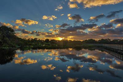 Photograph - Wakodahatcheen Wetlands Sunrise Magic by Juergen Roth