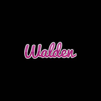 Digital Art - Walden #walden by TintoDesigns