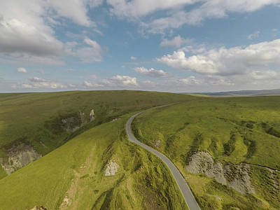 Photograph - Wales Uk Road Through Pass By Drone  by John McGraw