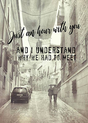 Photograph - Walk In The Rain Quote by JAMART Photography