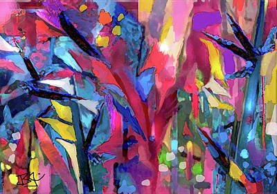 Digital Art - Walk In The Woods by Jean Batzell Fitzgerald