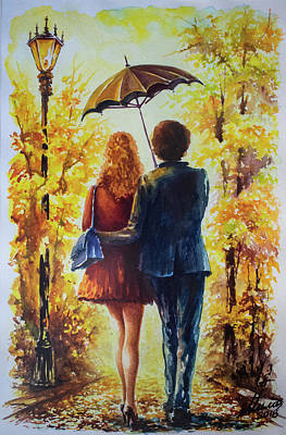 Painting - Walk by Mila Vasileva