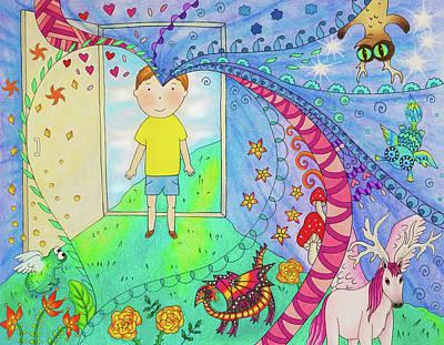 Wall Art - Mixed Media - Through The Door by Jenine Lori